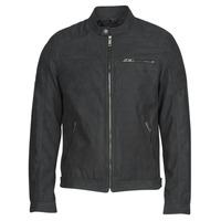 Oblačila Moški Usnjene jakne & Sintetične jakne Jack & Jones JJEROCKY Črna
