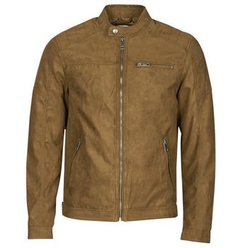 Oblačila Moški Usnjene jakne & Sintetične jakne Jack & Jones JJEROCKY Cognac