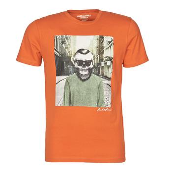 Oblačila Moški Majice s kratkimi rokavi Jack & Jones JORSKULLING Oranžna