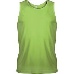 Oblačila Moški Majice brez rokavov Proact Débardeur  Sport vert fluo