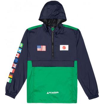 Oblačila Moški Vetrovke Huf Jacket flags anorak Modra