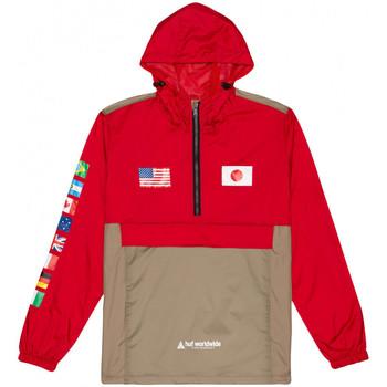 Oblačila Moški Vetrovke Huf Jacket flags anorak Rdeča