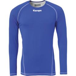 Oblačila Moški Majice z dolgimi rokavi Kempa Maillot de compression ML  Attitude bleu roi