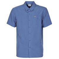 Oblačila Moški Srajce s kratkimi rokavi Columbia LAKESIDE TRAIL Modra