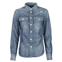 Oblačila Ženske Srajce & Bluze G-Star Raw KICK BACK WORKER SHIRT WMN L\S Modra