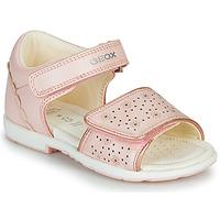 Čevlji  Deklice Sandali & Odprti čevlji Geox B VERRED Rožnata