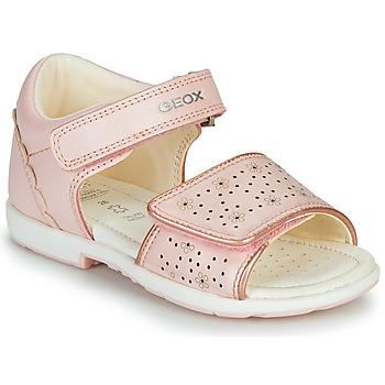 Čevlji  Dečki Sandali & Odprti čevlji Geox B VERRED Rožnata