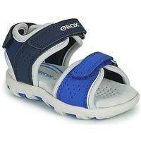 Čevlji  Dečki Sandali & Odprti čevlji Geox B SANDAL PIANETA Modra