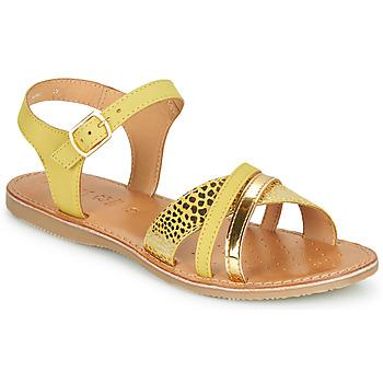 Čevlji  Deklice Sandali & Odprti čevlji Geox J SANDAL EOLIE GIRL Rumena / Pozlačena