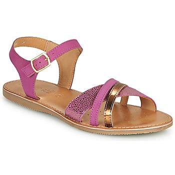 Čevlji  Deklice Sandali & Odprti čevlji Geox J SANDAL EOLIE GIRL Rožnata / Pozlačena