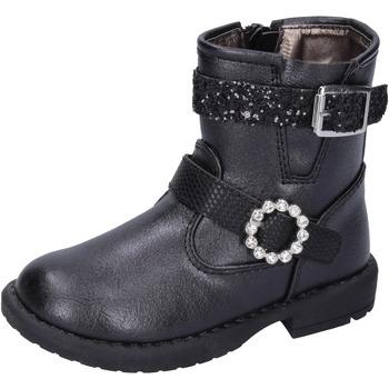 Čevlji  Deklice Gležnjarji Asso Gležnarji BK221 Črna