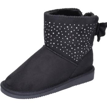 Čevlji  Deklice Gležnjarji Asso Gležnarji BK232 Črna