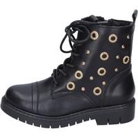 Čevlji  Deklice Gležnjarji Joli BK242 Črna