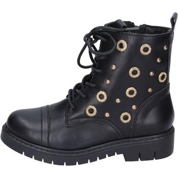 Čevlji  Deklice Gležnjarji Joli Gležnarji BK242 Črna