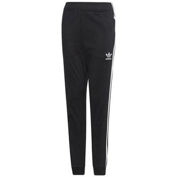 Oblačila Otroci Spodnji deli trenirke  adidas Originals Junior Superstar Pants Črna
