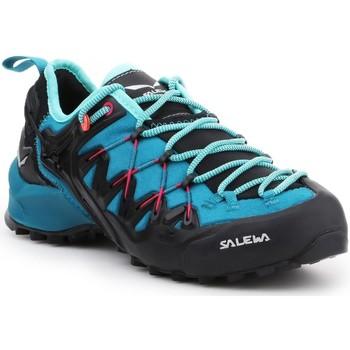 Čevlji  Ženske Pohodništvo Salewa WS Wildfire Edge 61347-8736 blue, black