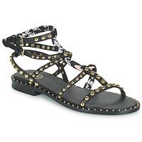 Čevlji  Ženske Sandali & Odprti čevlji Ash PATCHOULI Črna / Večbarvna