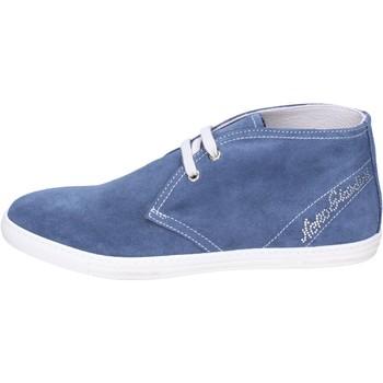 Čevlji  Deklice Gležnjarji NeroGiardini Gležnarji BK487 Modra