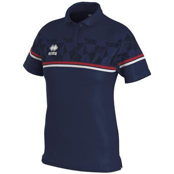 Oblačila Ženske Polo majice kratki rokavi Errea Polo femme  darya marine/gris/blanc