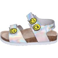 Čevlji  Deklice Sandali & Odprti čevlji Smiley Sandali Pelle sintetica Argento