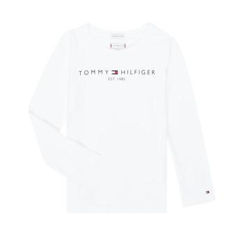 Oblačila Deklice Majice z dolgimi rokavi Tommy Hilfiger KG0KG05247-YBR-C Bela