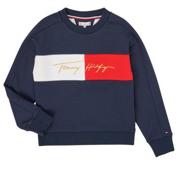 Oblačila Deklice Puloverji Tommy Hilfiger KG0KG05497-C87-J Modra