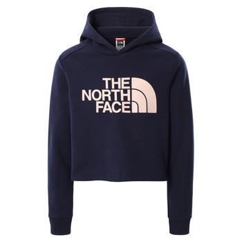 Oblačila Deklice Puloverji The North Face DREW PEAK CROPPED HOODIE Modra