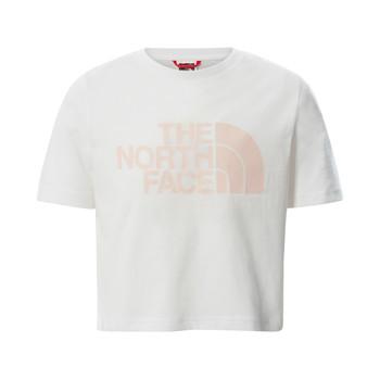 Oblačila Deklice Majice s kratkimi rokavi The North Face EASY CROPPED TEE Bela