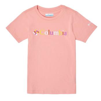 Oblačila Deklice Majice s kratkimi rokavi Columbia SWEET PINES GRAPHIC Rožnata