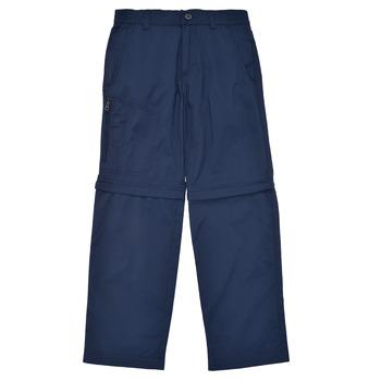 Oblačila Dečki Hlače s 5 žepi Columbia SILVER RIDGE IV CONVERTIBLE PANT Modra