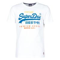 Oblačila Moški Majice s kratkimi rokavi Superdry VL TRI TEE 220 Bela