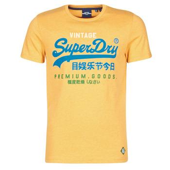 Oblačila Moški Majice s kratkimi rokavi Superdry VL TRI TEE 220 Rumena