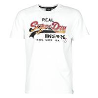 Oblačila Moški Majice s kratkimi rokavi Superdry VL ITAGO TEE 220 Bela