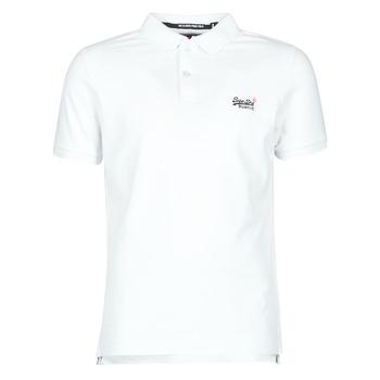 Oblačila Moški Majice s kratkimi rokavi Superdry CLASSIC PIQUE S/S POLO Bela