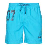 Oblačila Moški Kopalke / Kopalne hlače Superdry WATERPOLO SWIM SHORT Modra