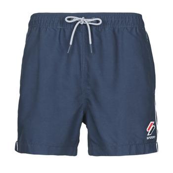 Oblačila Moški Kopalke / Kopalne hlače Superdry TRI SERIES SWIM SHORT Modra