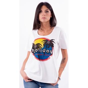 Oblačila Ženske Majice s kratkimi rokavi Persona By Marina Rinaldi VALUTA Bela