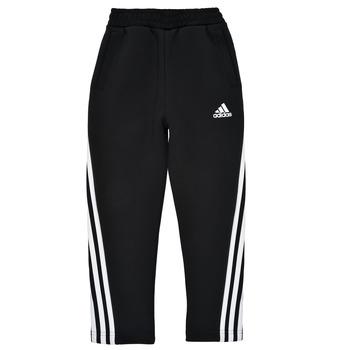 Oblačila Dečki Spodnji deli trenirke  adidas Performance B 3S TAPERED P Črna