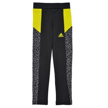 Oblačila Deklice Pajkice adidas Performance G LEO TIG Črna