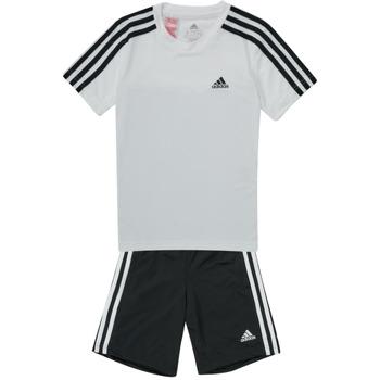 Oblačila Dečki Trenirka komplet adidas Performance B 3S T SET Bela / Črna