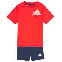 Oblačila Dečki Otroški kompleti adidas Performance BOS SUM  SET Rdeča / Črna