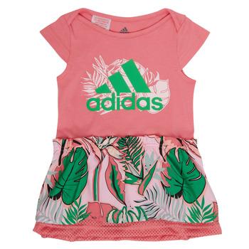 Oblačila Deklice Kratke obleke adidas Performance FLOWER DRESS Rožnata