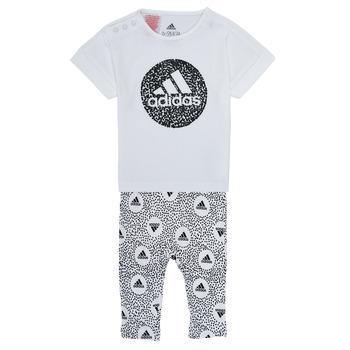 Oblačila Deklice Otroški kompleti adidas Performance TIGHT SET Bela