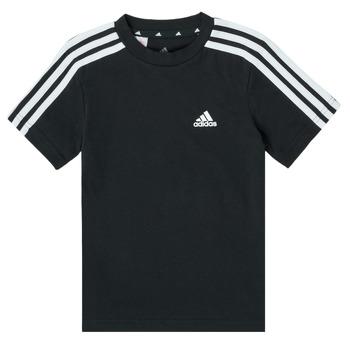 Oblačila Dečki Majice s kratkimi rokavi adidas Performance B 3S T Črna