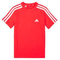 Oblačila Dečki Majice s kratkimi rokavi adidas Performance B 3S T Rdeča