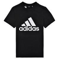 Oblačila Dečki Majice s kratkimi rokavi adidas Performance B BL T Črna