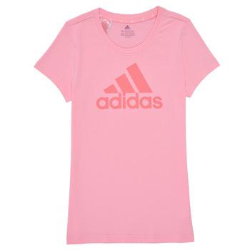 Oblačila Deklice Majice s kratkimi rokavi adidas Performance G BL T Rožnata