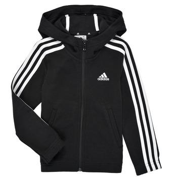 Oblačila Deklice Puloverji adidas Performance G 3S FZ HD Črna