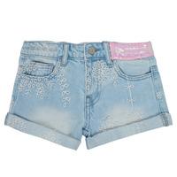 Oblačila Deklice Kratke hlače & Bermuda Desigual 21SGDD05-5010 Modra