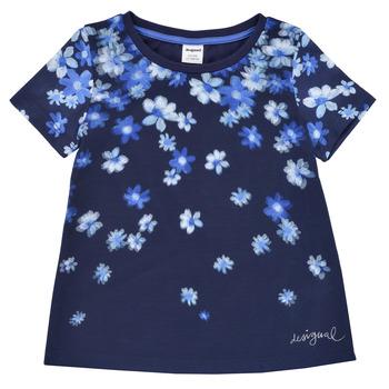 Oblačila Deklice Majice s kratkimi rokavi Desigual 21SGTK37-5000 Modra